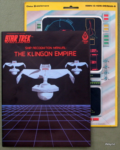 Ship Recognition Manual: The Klingon Empire (Star Trek: The Role-Playing Game)