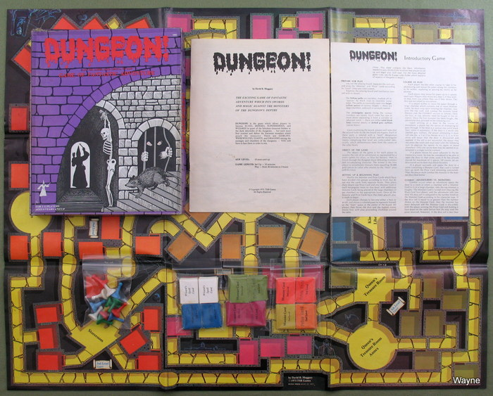Dungeon! (Classic 1975 TSR game), Michael Gray & Gary Gygax & Steve Winter