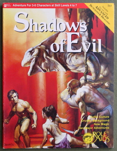 Shadows of Evil (Advanced Dungeons & Dragons: Role Aids), Stephen Bourne