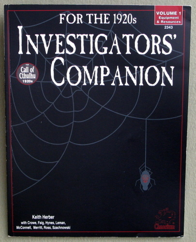 Investigator's Companion for the 1920s: Volume 1 - Equipment & Resources (Call of Cthulhu)
