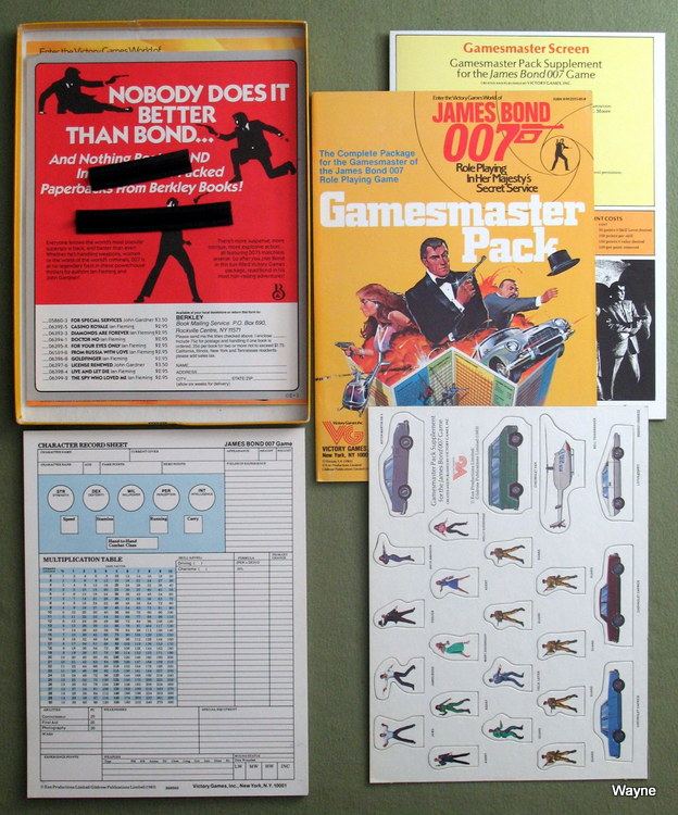 Gamesmaster Pack (James Bond 007 role playing game) - LIDLESS EDITION