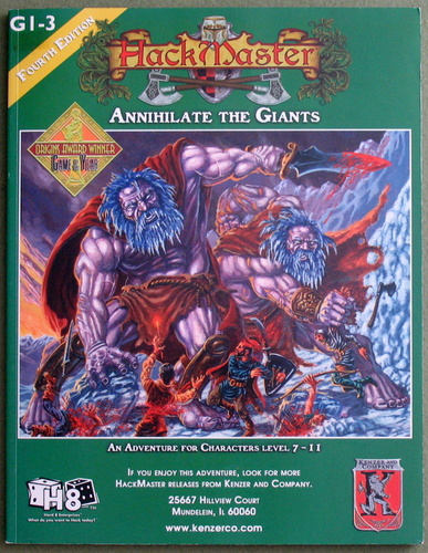 Annihilate the Giants (HackMaster Adventure G1-3)