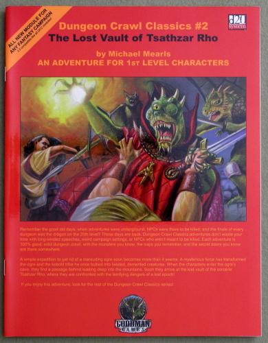 Dungeon Crawl Classics 2: The Lost Vault of Tsathzar Rho, Michael Mearls & Jim Holloway