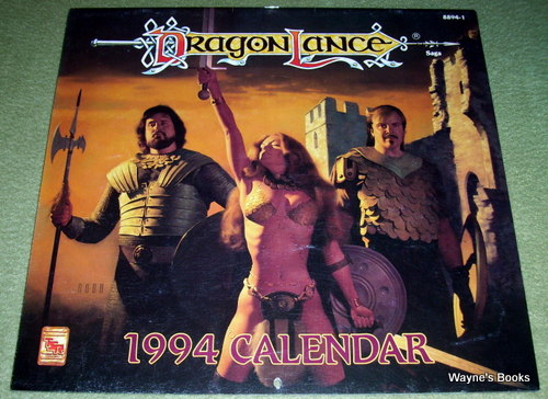 1994 Dragonlance Calendar, Jeff Easley & Clyde Caldwell & Fred Fields & Brom & Larry Elmore & Robh Ruppel