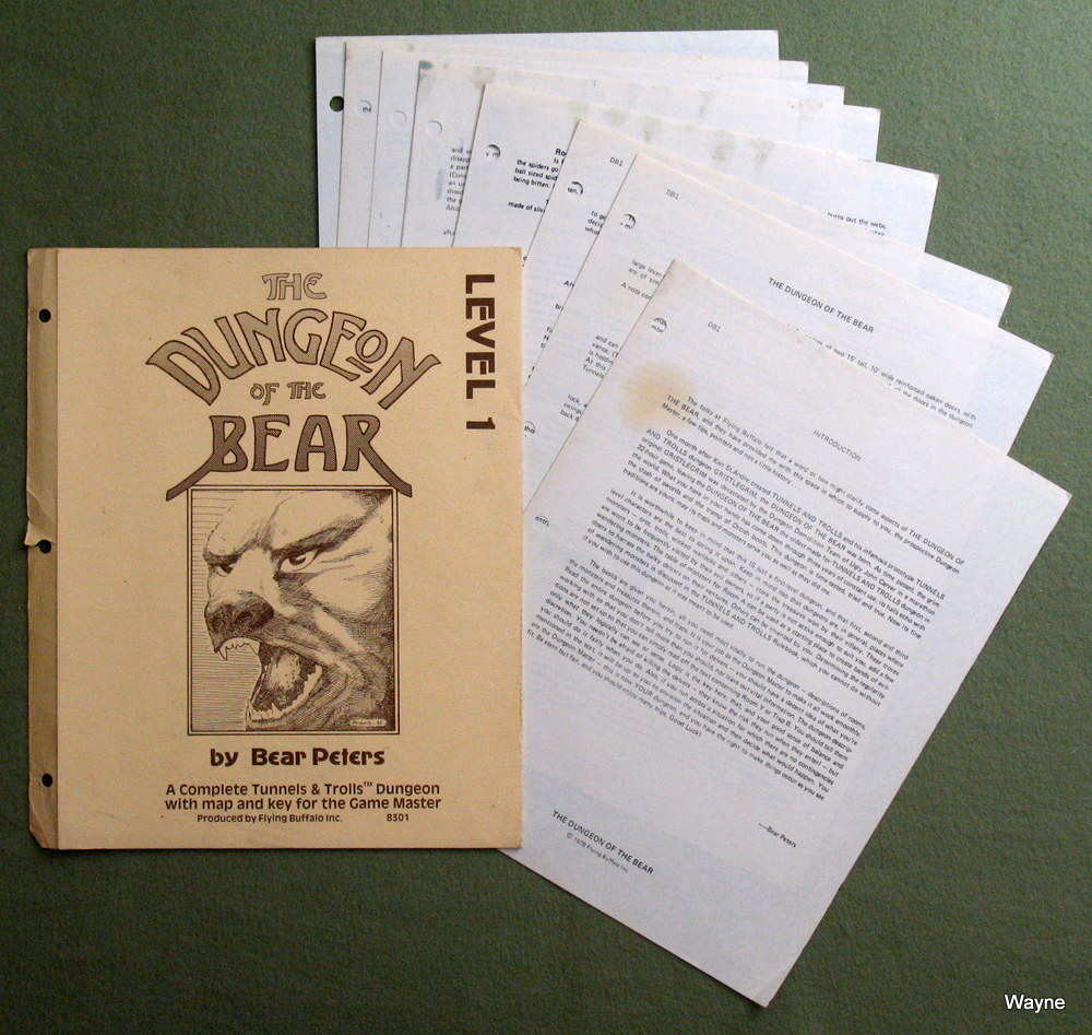 Dungeon of the Bear: Level 1 (Tunnels & Trolls) - WORN, Bear Peters
