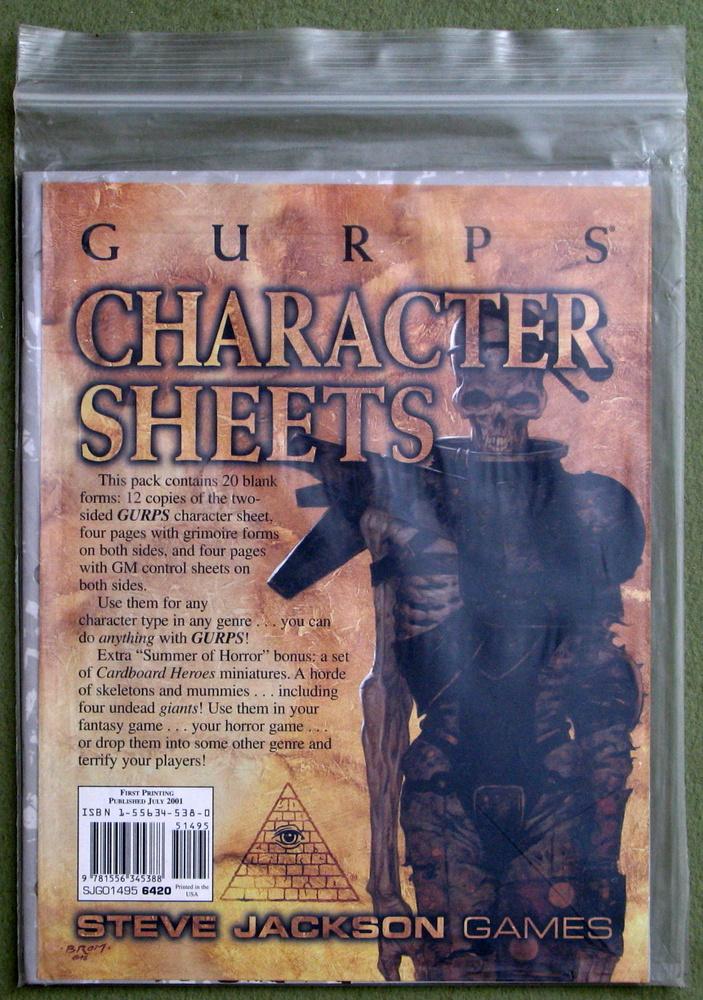 GURPS Character Sheets