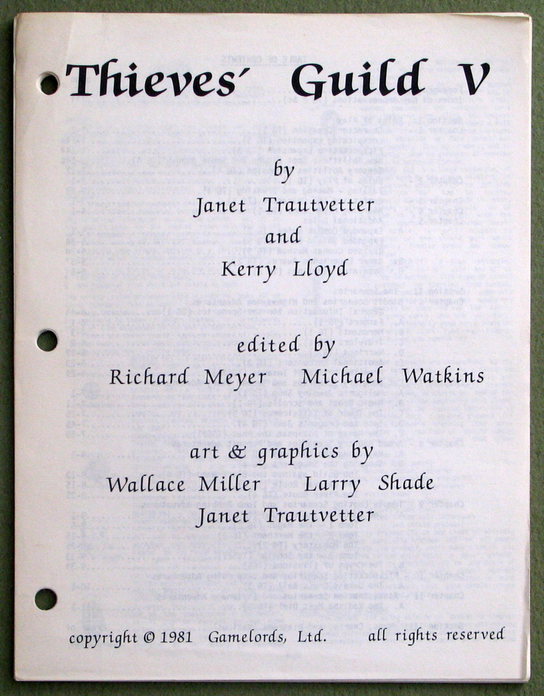 Thieves' Guild V (5) - MISSING COVER