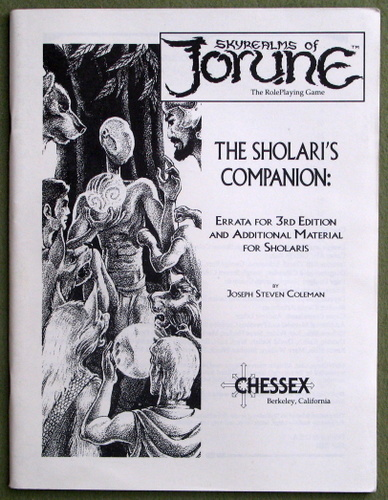 Sholari's Companion (Skyrealms of Jorune), Joseph Coleman