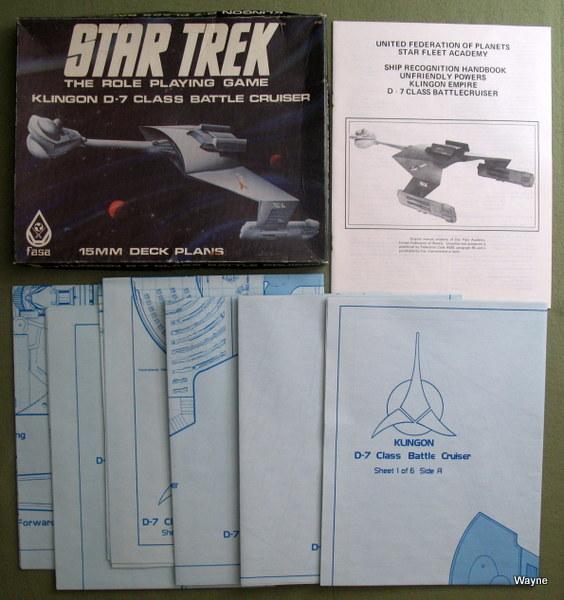 Klingon D-7 Class Battle Cruiser: 15mm Deck Plans (Star Trek: The Role Playing Game)