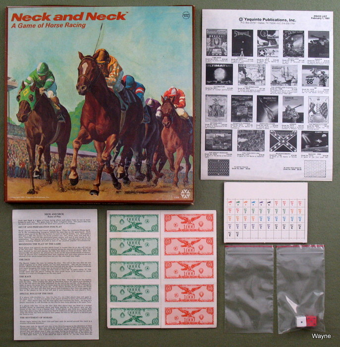 Neck and Neck: A Game of Horse Racing