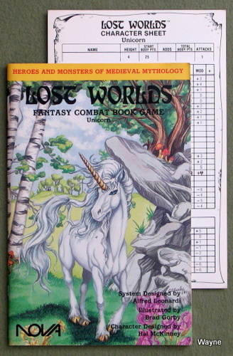 Lost Worlds Fantasy Combat Book Game: Unicorn, Alfred Leonardi