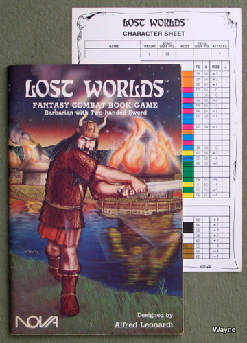 Lost Worlds Fantasy Combat Book Game: Barbarian with Two-handed Sword