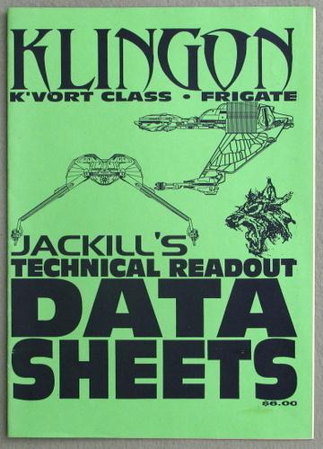 Klingon K'Vort Class Frigate (Jackill's Technical Readout Data Sheets)