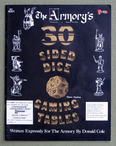 30 Sided Dice Gaming Tables, Donald Cole