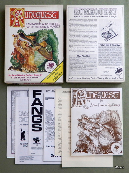 Runequest, 2nd Edition, Steve Perrin & Ray Turney & Greg Stafford