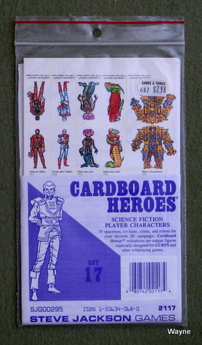 Cardboard Heroes, Set 17: Science Fiction Player Characters