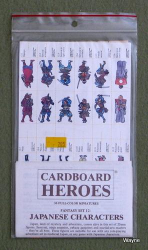 Cardboard Heroes, Set 12: Japanese Characters
