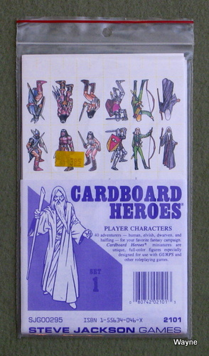 Cardboard Heroes, Set 1: Player Characters