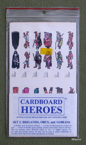 Cardboard Heroes, Set 2: Brigands, Orcs, and Goblins