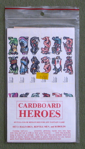 Cardboard Heroes, Set 3: Half-Orcs, Reptile Men, and Kobolds