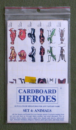 Cardboard Heroes, Set 4: Animals