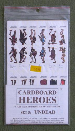 Cardboard Heroes, Set 5: Undead