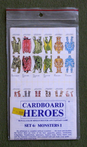 Cardboard Heroes, Set 6: Monsters I