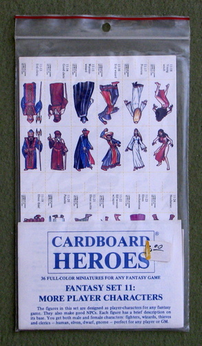 Cardboard Heroes, Set 11: More Player Characters