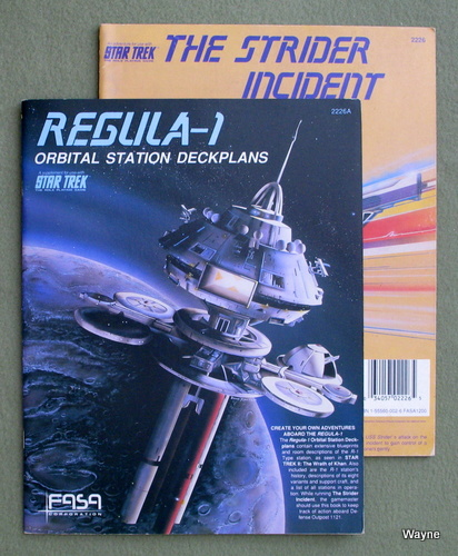 Strider Incident / Regula-1: Orbital Station Deck Plans (Star Trek RPG 2-book set)