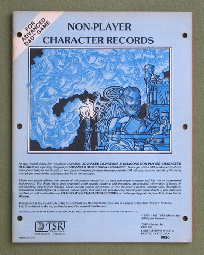 Non-Player Character Records (Advanced Dungeons & Dragons)