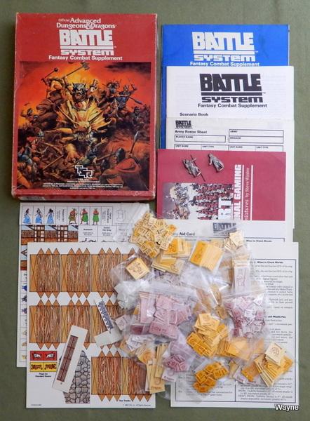 Battlesystem: Fantasy Combat Supplement (Advanced Dungeons & Dragons) - PLAY SET