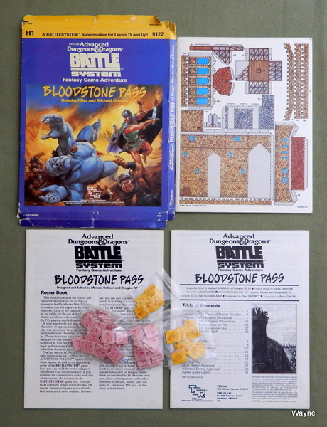 Bloodstone Pass (Advanced Dungeons & Dragons Battlesystem module H1), Douglas Niles & Michael Dobson