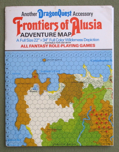 Frontiers of Alusia: Adventure Map (Dragonquest) - PLAY SET