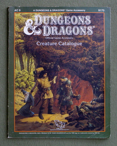 Creature Catalog (Dungeons and Dragons Accessory AC9), Jim Bambra & Graeme Morris