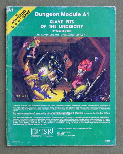 Slave Pits of the Undercity (Advanced Dungeons & Dragons/AD&D Module A1) - PLAY COPY, David Cook