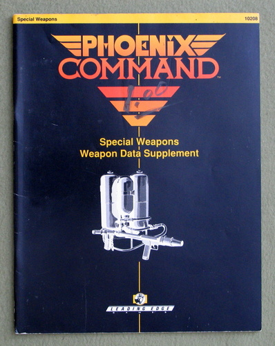Special Weapons Data Supplement (Phoenix Command)