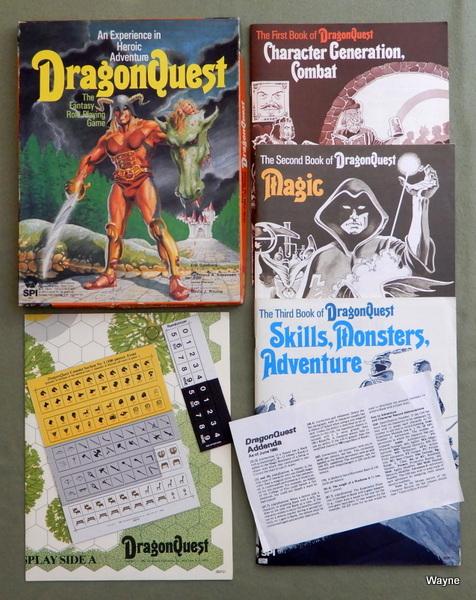DragonQuest - 1st Edition, Eric Goldberg & Redmond A Simonsen & James Sherman & David J. Ritchie