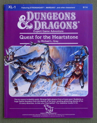 Quest for the Heartstone (Dungeons & Dragons Module XL1), Michael L. Gray