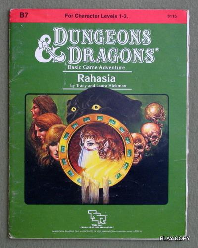 Rahasia (Dungeons & Dragons module B7) - PLAY COPY, Tracy Hickman & Laura Hickman