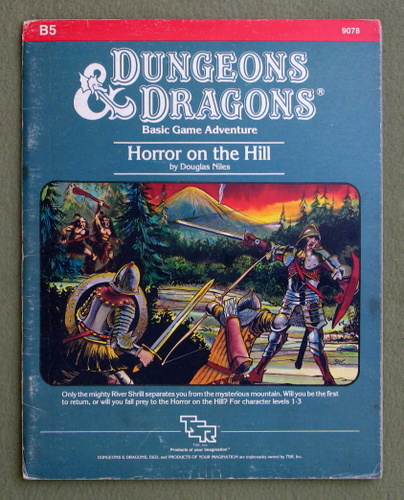 Horror on the Hill (Dungeons & Dragons Module B5) - PLAY COPY, Douglas Niles