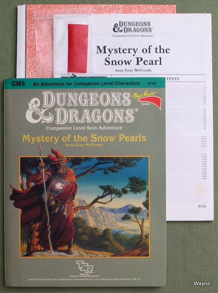 Mystery of the Snow Pearls (Dungeons & Dragons Module CM5), Anne Gray McCready