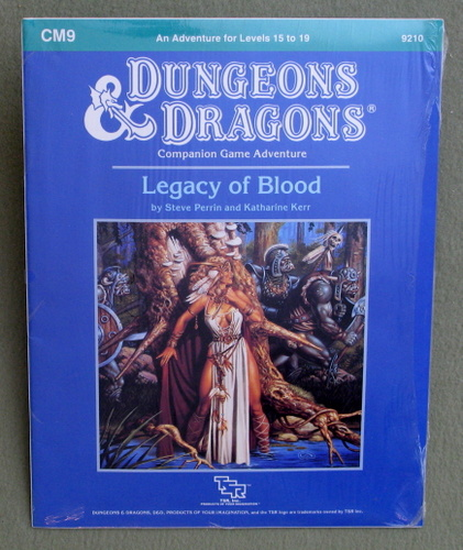 Legacy of Blood (Dungeons and Dragons Module CM9), Steve Perrin & Katharine Kerr