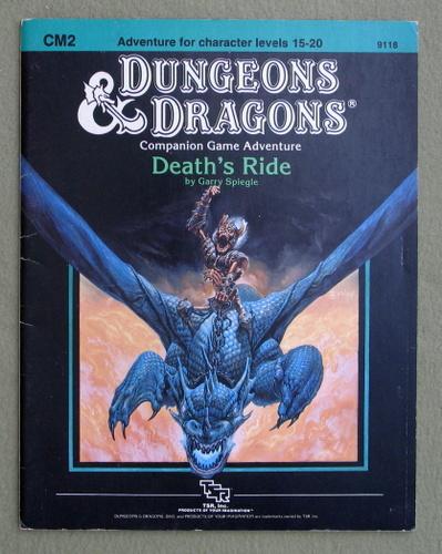 Death's Ride (Dungeons & Dragons module CM2), Gary Spiegle