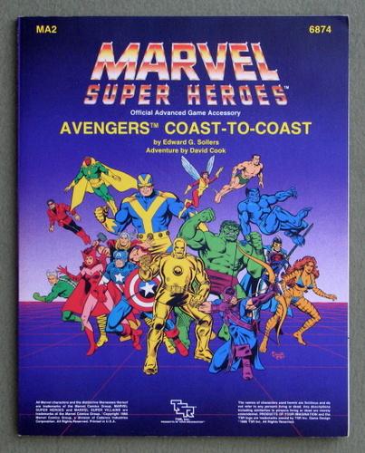 Avengers: Coast to Coast (Marvel Super Heroes Accessory MA2), Edward G. Sollers & David Cook