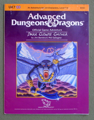 Dark Clouds Gather (Advanced Dungeons & Dragons Module UK7) - PLAY COPY, Jim Bambra & Phil Gallagher