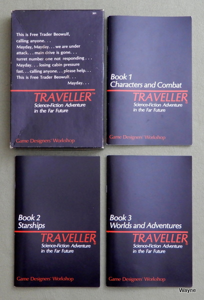 Traveller Books 1-3: Core Rules, Marc Miller