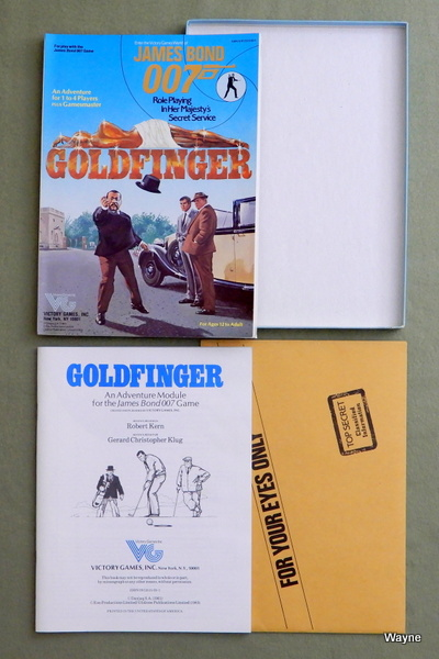 Goldfinger (James Bond 007 role playing game) - LIDLESS EDITION