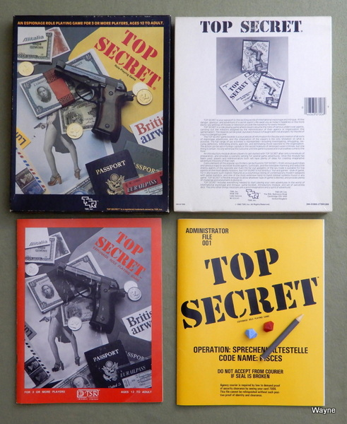 Top Secret Espionage: Role-Playing Game, Merle Rasmussen