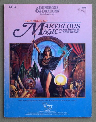 The Book of Marvelous Magic (Dungeons and Dragons Game Supplement AC4) - PLAY COPY, Frank Mentzer & Gary Gygax