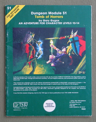 Tomb of Horrors (Advanced Dungeons & Dragons Module S1), Gary Gygax